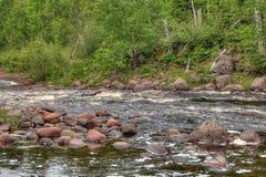 Absolutismfloden är en delstatspark på den norr kusten av sjön Supe Arkivfoto