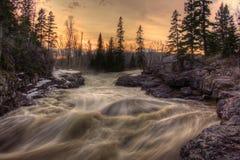 Absolutismfloden är en delstatspark på den norr kusten av sjön Supe Arkivfoton