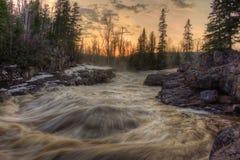 Absolutismfloden är en delstatspark på den norr kusten av sjön Supe Royaltyfria Foton