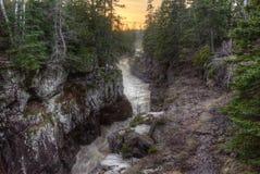Absolutismfloden är en delstatspark på den norr kusten av sjön Supe Arkivbilder