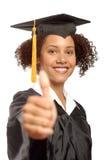 Absolvent mit den Daumen oben Lizenzfreies Stockbild