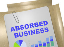 Absorbed Business concept. 3D illustration of ABSORBED BUSINESS title on business document Royalty Free Stock Photos