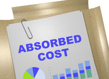 Absorbed Cost concept Royalty Free Stock Image
