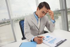 Absorbed in work Royalty Free Stock Images
