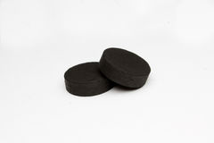 Absorbent carbon. On white background stock photography