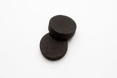 Absorbent carbon. On white background stock photos