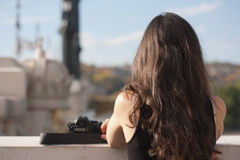 Absorbing the view. Royalty Free Stock Photography