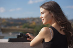 Absorbing the view. Royalty Free Stock Images