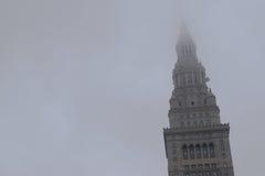 Abspannmast in Cleveland, OH- Stockbild