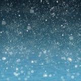 Absract与雪的夜风景 免版税库存照片