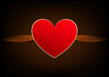 Absract红色心脏 库存图片