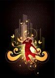 absract舞蹈演员 免版税库存图片
