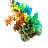 Absract颜色油漆在水中 免版税图库摄影