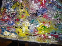 Absract Acrylic painting. Colored Abstract acrylic painting royalty free illustration