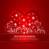 Absract background with hearts. Absract red background with hearts vector illustration