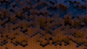 Absract hexagon pattern. 3D Rendering. Absract background hexagon honeycomb pattern. 3D Rendering Royalty Free Stock Image