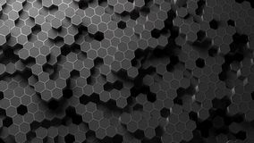 Absract hexagon pattern. 3D Rendering. Absract background hexagon honeycomb pattern. 3D Rendering Stock Images