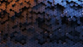 Absract hexagon pattern. 3D Rendering. Absract background hexagon honeycomb pattern. 3D Rendering Stock Image