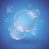 Absract background with soap bubbles Royalty Free Stock Images