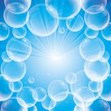 Absract background with soap bubbles Royalty Free Stock Photography