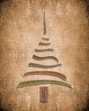 Absract background with wooden christmas tree Stock Images