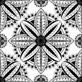 Absract black and white pattern. Absract black and white pattern of mandalas. Vector ornament Stock Photography
