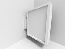 Absract Blank gallery Screen Banner. Architecture Interior Bakcg. Round. 3d Render Illustration Royalty Free Stock Photo