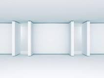 Absract Blank gallery Screens Banners. Architecture Interior Bak. Cground. 3d Render Illustration Stock Photos