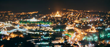 Absract Blurred Bokeh Architectural Urban Backdrop Of Tbilisi, G. Panoramic Absract Blurred Bokeh Architectural Urban Backdrop Of Tbilisi, Georgia. Real Blurred stock photos
