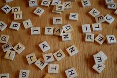 Absract bokstäver Arkivbild