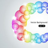 Absract bubble background. Vector multi colored bubble background Royalty Free Stock Photography