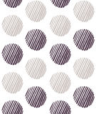 Absract circles handdrawn pattern vector. Seamless vector illustration