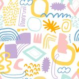 Absract collage seamless pattern vector cute background. Absract collage seamless pattern vector illustration background royalty free illustration