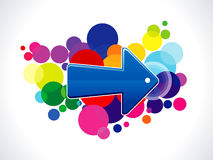 Absract colorful arrow icon. Vector illustration Stock Photos