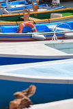 Absract composition of boats Royalty Free Stock Image