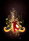 Absract dancer Royalty Free Stock Images