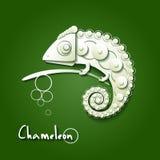 Scrapbooking chameleon Stock Photo