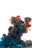 Absract färgmålarfärg i vatten Arkivbilder