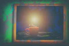 Absract-Farbe mit roter Schale A im Bilderrahmen Lizenzfreie Stockfotografie