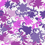 Absract floral seamless pattern. Abstract fantasy floral endless pattern in lilac tones. Perfect for textile design stock illustration