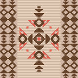 Absract geometric ornament in native american style Stock Photos