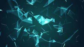 Absract-Geometriehintergrund mit Linien und Punkten Lizenzfreie Stockbilder