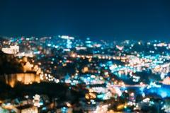 Absract ha offuscato il contesto urbano architettonico di Bokeh di Tbilisi, la Georgia Fondo variopinto vago reale di Bokeh con fotografia stock libera da diritti