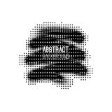 Absract halftone geometric background. Vector illustration Stock Images