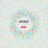 Absract halftone geometric background. Vector illustration Royalty Free Stock Images