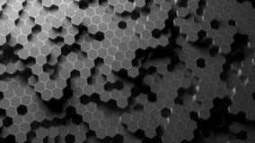 Absract hexagon pattern. 3D Rendering. Absract background hexagon honeycomb pattern. 3D Rendering royalty free illustration