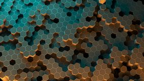 Absract hexagon pattern. 3D Rendering. Absract background hexagon honeycomb pattern. 3D Rendering Royalty Free Stock Photo