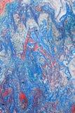 Absract målning i rött, vit och blått Royaltyfri Fotografi