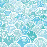 Absract-Meereswellen Minoan-Grieche-Verzierung Stockbilder