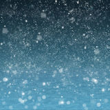 Absract night landscape with snow Royalty Free Stock Photo
